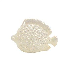 """Ceramic 10.5"""" Fish, Pearl"""