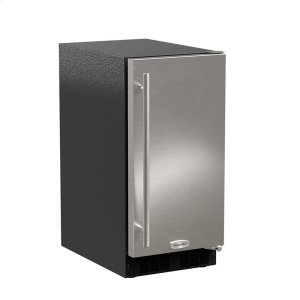 Marvel15-In Low Profile Built-In Clear Ice Machine With Arctic White Illuminice with Door Style - Stainless Steel, Door Swing - Right, Pump - Yes
