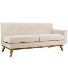 Engage Left-Arm Upholstered Fabric Loveseat in Beige