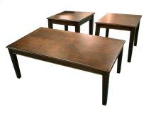 Mocha Coffee & End Table Set