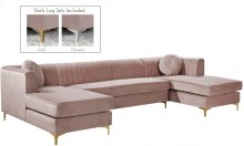Graham Velvet 3pc. Sectional - 132''L x 65''D x 31.5''H