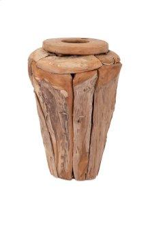 Kanza Small Puzzle Teak Wood Vase