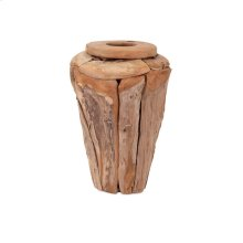 Kanza Small Puzzle Teak Wood Vase