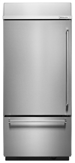 """20.9 Cu. Ft. 36"""" Width Built-In Stainless Bottom Mount Refrigerator with Platinum Interior Design - Stainless Steel Product Image"""