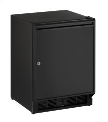 "Ada Series 21"" Ada Solid Door Refrigerator With Black Solid (lock) Finish and Right-hand Hinge Door Swing (115 Volts / 60 Hz)"