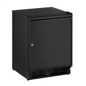 """U-Line Ada Series 21"""" Ada Solid Door Refrigerator With Black Solid (Lock) Finish And Right-Hand Hinge Door Swing (115 Volts / 60 Hz)"""