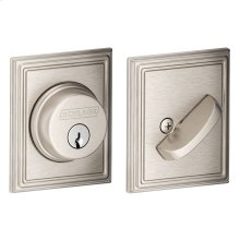 Single Cylinder Deadbolt with Addison trim - Satin Nickel