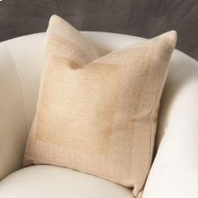Square Printed Jute Pillow-Gold
