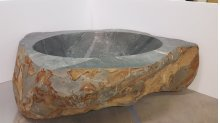 One of A Kind Bathtubs Natural / Green Gray Granite