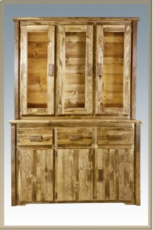 Homestead China Hutch Stained and Lacquered