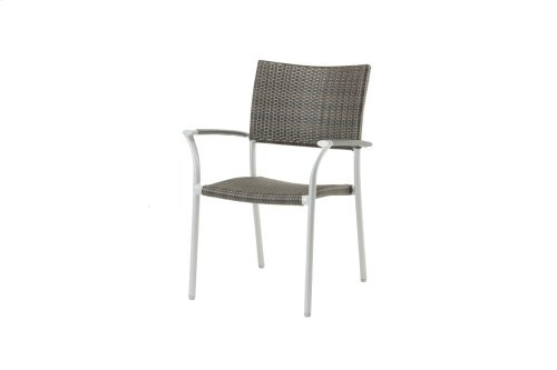 New Roma Stacking Arm Chair w/Aluminium Armrest
