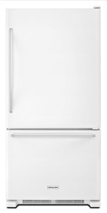 19 cu. ft. 30-Inch Width Full Depth Non Dispense Bottom Mount Refrigerator - White