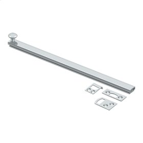 """12"""" Surface Bolt, Concealed Screw, HD - Polished Chrome"""