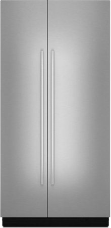 "NOIR™ 42"" Fully Integrated Built-In Side-by-Side Refrigerator Panel-Kit, Euro-Style Stainless Handle"