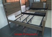CLEARANCE ITEM--Twin Poster Bed with rails Product Image