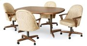 Table Base: Twin Legs (chestnut & bronze) Product Image
