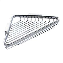 "Polished Chrome 9"" Corner Basket"