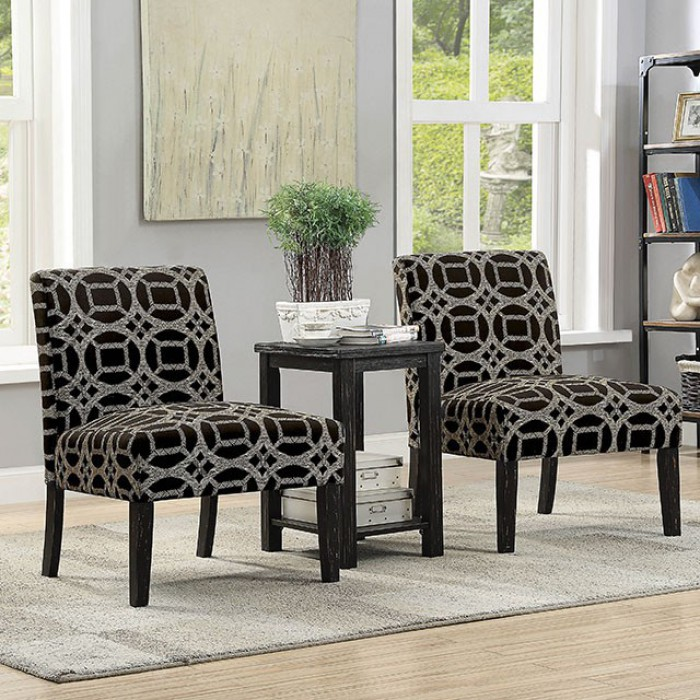 Fortuna Accent Table u0026 Chair Set & CMAC63753PK in by Furniture of America in San Jose CA - Fortuna ...