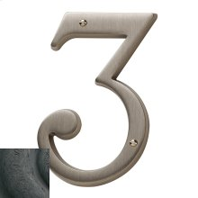 Distressed Oil-Rubbed Bronze House Number - 3
