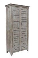 Bengal Manor Mango Wood 2 Door Tall Grey Wine Cabinet Product Image