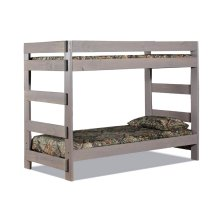 Full/Full One-Piece Bunk Bed w/Queen Rails