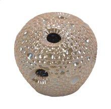 Decorative Ceramic Sea Urchin Orb, Beige