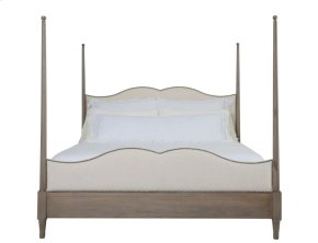King-Sized Auberge Poster Bed in Auberge Weathered Oak (351)