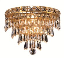 2526 Tranquil Collection Wall Sconce with Neck Gold Finish