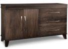 Verona Sideboard w/2 Wood Doors on Left & 3/Dwrs on Right & 1/Wood Adjust. Product Image