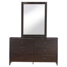 Dresser/Mirror (Chocolate)