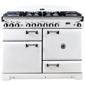 "Vintage White with solid doors AGA Legacy 44"" Dual-Fuel Range"