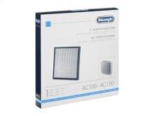 HEPA + Active Carbon Air Purifier Replacement Filter AC100, AC150, AC150C  De'Longhi US