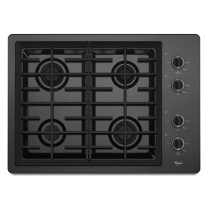 Whirlpool30-inch Gas Cooktop with two 12,500 BTU Power Burners