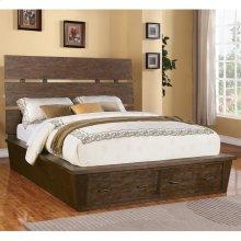 Promenade - Queen/king Slat Panel Bed Rails - Warm Cocoa Finish