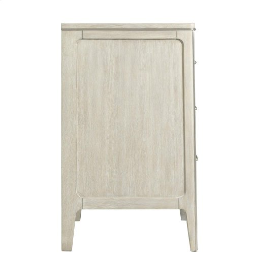 Lilly - Three Drawer Nightstand - Champagne Finish