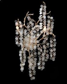 Shiro-Noda Two-Light Dramatic Glass Cluster Wall Sconce