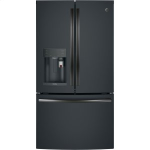 GE Profile™ Series ENERGY STAR® 22.2 Cu. Ft. Counter-Depth French-Door Refrigerator with Keurig® K-Cup® Brewing System - BLACK SLATE