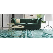 Vintage-style carpet with Arabian overtones