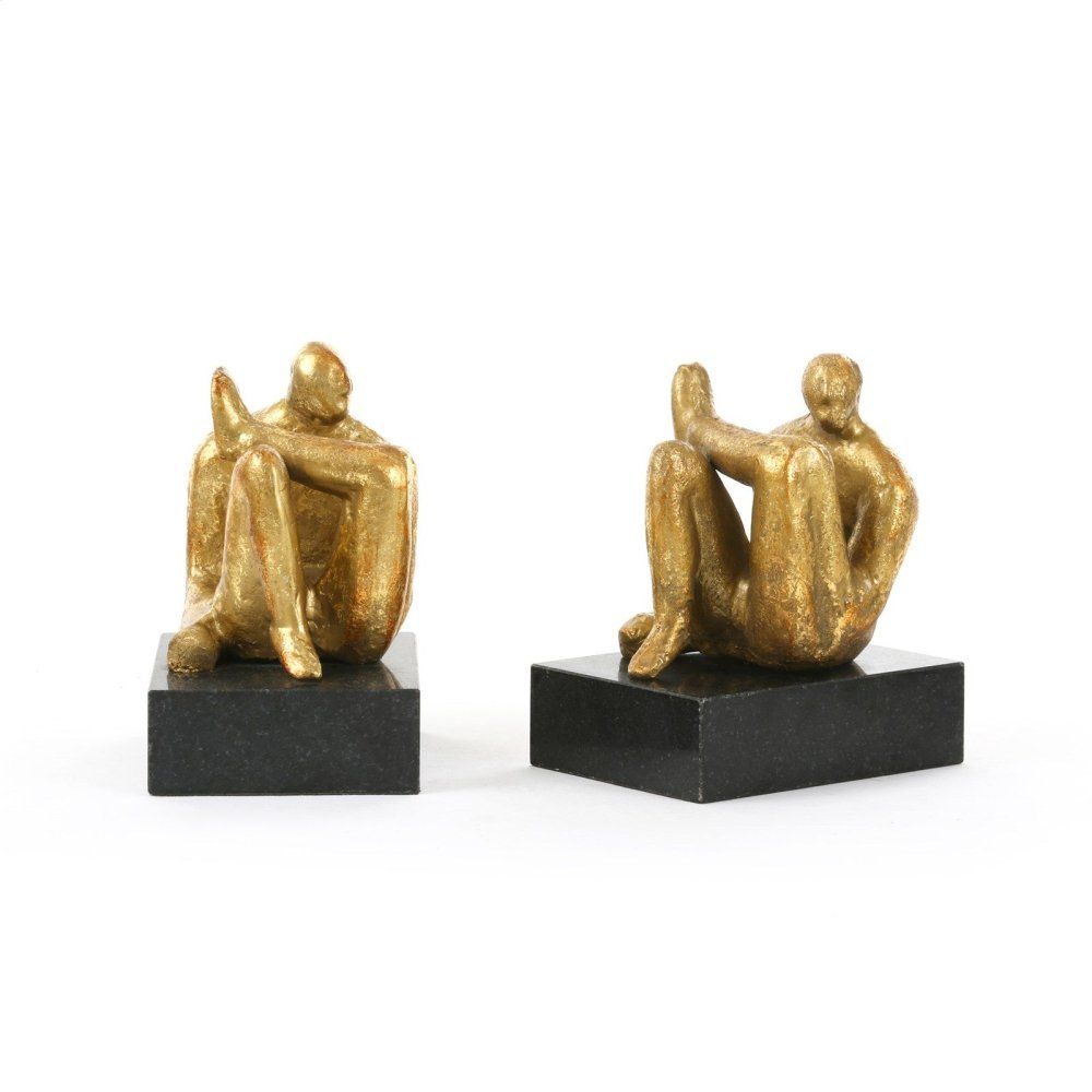 Amadeo Sitting Statue, Gold