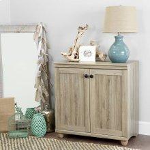 2-Door Storage Cabinet - Rustic Oak