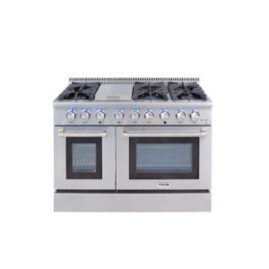 "Thor48"" 6 Burner Stainless Steel Professional Gas Range"