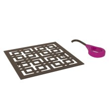 Tuscan Brass Weave Decorative Drain Cover