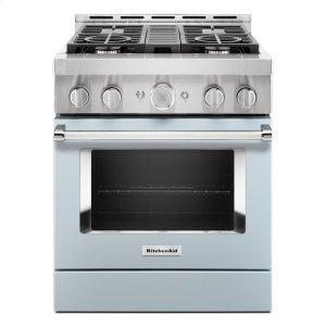 KitchenAidKitchenAid® 30'' Smart Commercial-Style Gas Range with 4 Burners - Misty Blue