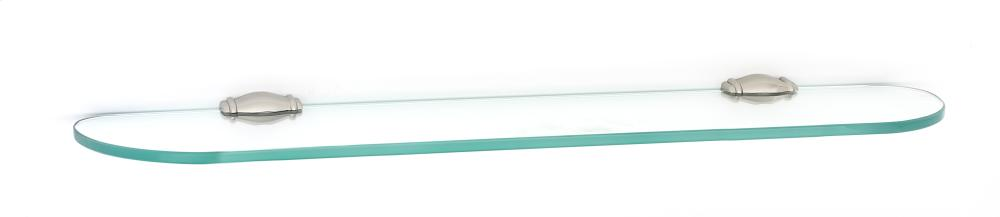 Charlie's Collection Glass Shelf A6750-24 - Polished Nickel