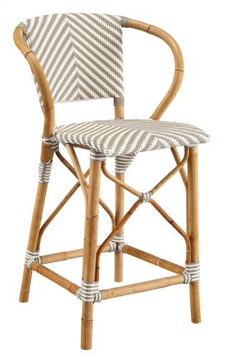 Gray Pearl Counter Stool