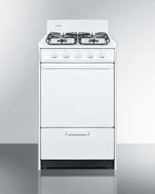 "20"" Wide Gas Range In White With Sealed Burners and Electronic Ignition; Replaces Wnm1107f"