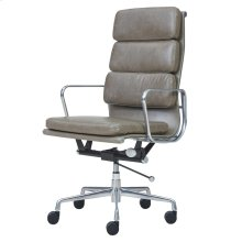 Chandel PU High Back Office Chair, Vintage Smoke