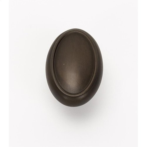 Classic Traditional Oval Knob A1560 - Chocolate Bronze