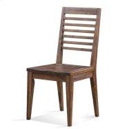 Modern Gatherings Slat Back Side Chair Brushed Acacia finish Product Image
