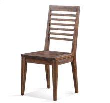 Modern Gatherings Slat Back Side Chair Brushed Acacia finish
